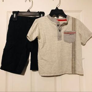DKNY two piece gray and black outfit size 24M